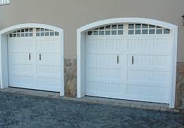 white wood garage door. Cape Cottage White Wood Garage Door