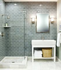 shower clear glass subway tile shower grey glass subway tile shower white vanity with pale