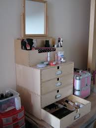 makeup organizer wood. wood makeup organizer with drawers e