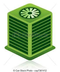 air conditioning clipart. green air conditioning unit icon - this illustration. clipart a