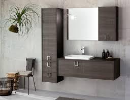Modulares Badezimmerschrank In Dunklem Holz Idfdesign