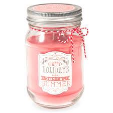 bougie bocal parfumée coquelicot en verre corail joyful maisons du monde