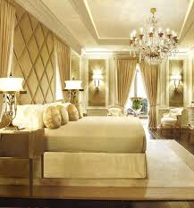 Bedroom Design: Awesome Chic Gold And White Bedroom Design Gold And ...
