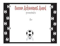 soccer awards templates free soccer performance achievement template free powerpoint