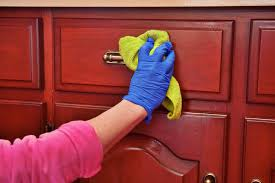 if you scrub hard enough and kitchen cabinets clean