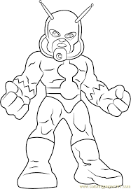 Small Picture Ant Man Coloring Page Free The Super Hero Squad Show Coloring