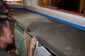 Thinset Concrete Countertops Quick Install Of Concrete Countertops Kitchen Remodel Ben