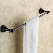 bronze towel bar. Senlesen Bathroom Single Towel Bar Oil Rubbed Bronze Rack - B013QM3Y4M R