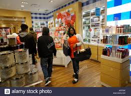 bath and body works customer service a worker attracts customers in the bath body works store in the