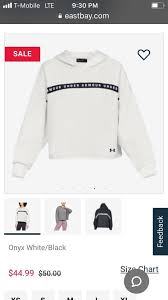 Under Armour Sweater Size Chart Under Armour White Cropped Taped Hoodie Activewear Top Size 10 M 22 Off Retail