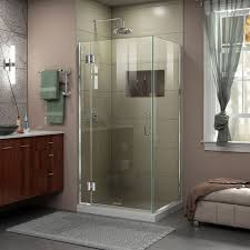 dreamline e12834 unidoor x 34 3 8 w x 34 d x 72 h frameless hinged unidoor x shower enclosure 01