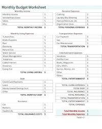 Retirement Budget Template Planning Form Worksheet Free