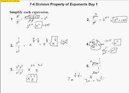 Properties Of Exponents Worksheet And Answers Free Worksheets ...