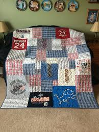 21 best Memory Quilts images on Pinterest | Memory quilts, Dads ... & Memory Quilt Made from her Dad's clothes Adamdwight.com