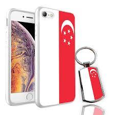 Design Skin Phone Case Singapore For Sony Xperia Z5 Premium Singapore Flag Design Printed White Case Skin Cover Free Metal Keyring 0157 By I Tronixs