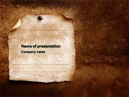 Old Paper Theme Powerpoint Template Backgrounds 03789
