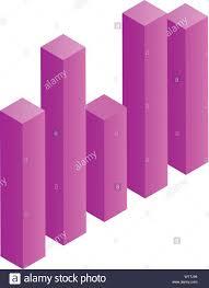 Column Chart Icon Isometric Style Stock Vector Art