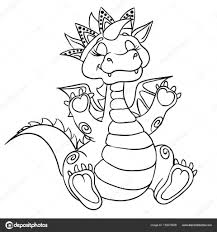 Dragon Kroon Kleurplaat Stockvector Efoxly 155079596
