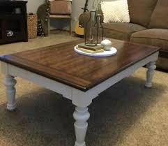 white and brown coffee table