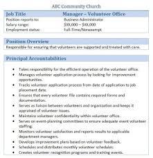 45+ Free Downloadable Sample Church Job Descriptions Church volunteer office manager job description