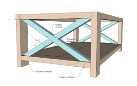 ana white rustic x coffee table diy projects design