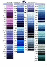 Dmc Embroidery Floss Chart Dmc The Purples And Blues Cross Stitch Embroidery Cross
