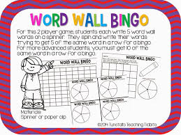 Activities Word Word Wall Centers For Any Word Wall Tunstalls Teaching Tidbits
