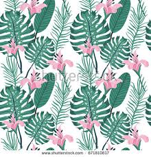 Summer Pattern Stunning Beautiful Seamless Floral Summer Pattern Background Stock Vector