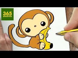 Monitos Tiernos Para Colorear Como Dibujar Mono Kawaii Paso A Paso Dibujos Kawaii