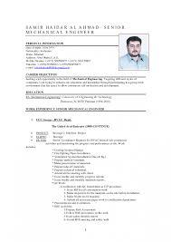 Sample Resume For Experienced Mechanical Engineer Samples Cv