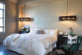 Bedroom Decorating Idea: Hanging Pendant Lights for Bedside Lighting