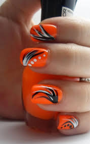 The 25+ best Orange nail art ideas on Pinterest | Orange nail ...