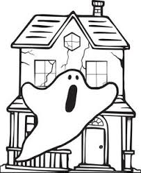 Small Picture Free Printable Haunted House Coloring Page for Kids