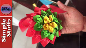 Glace Paper Flower How To Make Flower From Paper How To Make Flower With Paper Simple Stuffs