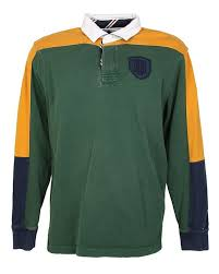tommy hilfiger colour block preppy style rugby shirt m image