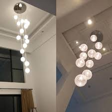 ball chandelier lights brilliant large round ceiling light modern chandeliers globe glass ceiling lamp with led sparkling floating crystal ball