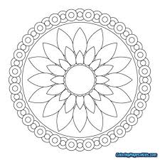 Free Mandala Coloring Pages For Kids To Print Printable Coloring