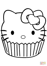 Small Picture Hello Kitty Cupcake coloring page Free Printable Coloring Pages