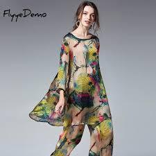 2019 <b>Women</b> 2 Pieces Sets Ladies Loose <b>Silk Tops</b> Long Pants ...