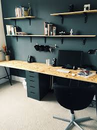 new home office with ikea drawers and trestle legs osb wood from b q