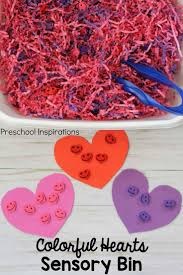Colorful Hearts Sensory Bin for Valentine s Day