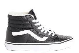 vans sk8 hi reissue leather black white