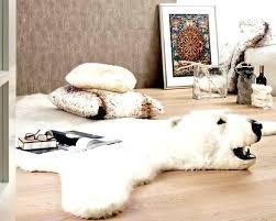 white bear rug faux polar bear rug animal rugs with head ideas interior white teddy bear