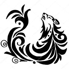 высокое качество оригинального волк татуировки иллюстрация