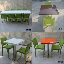 Japanese Dining Set Solid Surface Stone Japanese Dining Table Chinese Restaurant