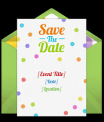 Blank Save The Date Cards Free Birthday Save The Dates Online Punchbowl