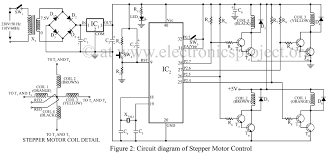 stepper motor control using microcontroller at89c51 electronics circuit diagram of stepper motor control using at89c51