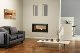 double sided electric fireplace type