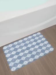 navy blue bathroom rugs inspirational east urban home oriental navy blue bath rug wayfair
