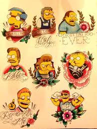 Simpsons Tattoo Flashhaha Coolness Simpsons Tattoo